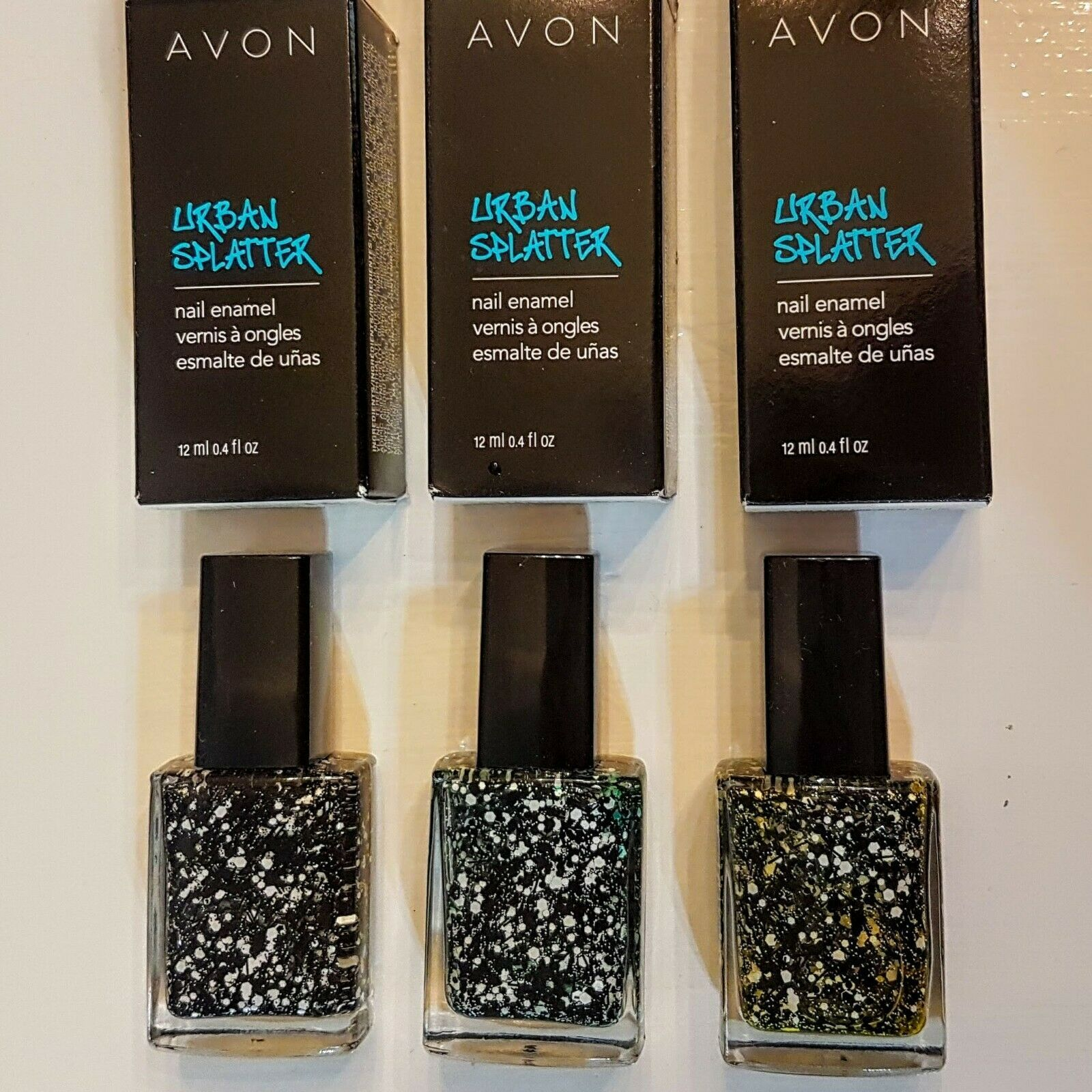 Primary image for Avon Urban Splatter Nail Enamel CHOICE Underground Yellow Urban Green Blackout