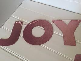 Rachel Ashwell Shabby Chic Pink Glitter Joy Garland 20758 - $23.19