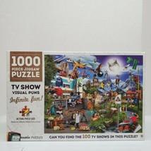 "Hinkler 1000 Piece ""TV Show Visual Puns"" Puntastic Jigsaw Puzzle SEALED - $18.00"