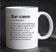 PRINTED MUG DEFINITION SARCASM Job Humour Novelty Joke Present Gift Cup - $13.03