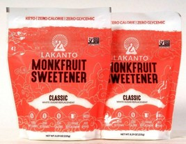 2 Bags Lakanto 8.29 Oz Monkfruit Sweetener Classic White Sugar Replacement - $22.99