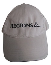 REGIONS Khaki Baseball Trucker Hat Adjustable Back - Vintage - $5.99