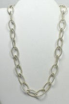 Tiffany & Co Large Oval Twist Link Chain Necklace Sterling Silver Pouch & Box - $654.75