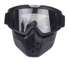 Vintage Detachable Goggles And Mouth Filter Retro Mask Half Open Face Mo... - $31.99