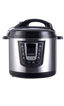 1000 Watt 6-Quart Electric Pressure Cooker Brushed Stainless Steel New B... - $42.47