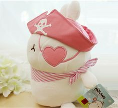 Molang Pirate Stuffed Animal Rabbit Plush Toy 8.6 inches 22cm (Pink) image 6