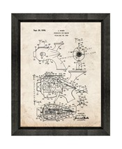 Futuristic Toy Weapon Patent Print Old Look with Beveled Wood Frame - $24.95+