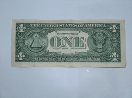 2017 $1 Dollar Bill US Bank Note Date Year Birthday 2002 5593 Fancy Money Serial image 2