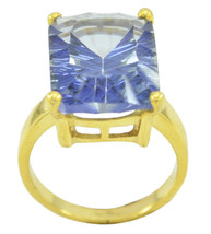 charming Mystic Quartz Gold Plated Multi Ring Natural simply US gift - $13.46