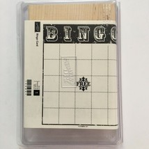 Bingo Card Stampin Up Rubber Stamp Large Make Your Own Background Wood M... - $10.40
