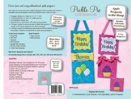 Happy Birthday Quilt Project: In Hoop Design CD Pickle Pie Designs - $24.74