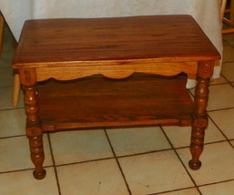 Solid Oak End Table / Side Table  (T599) - $269.10