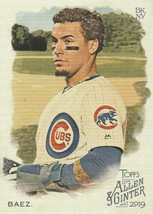 2019 Topps Allen and Ginter #19 Javier Baez  - $0.50