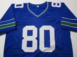 STEVE LARGENT / NFL HALL OF FAME / AUTOGRAPHED SEAHAWKS BLUE CUSTOM JERSEY / COA image 2