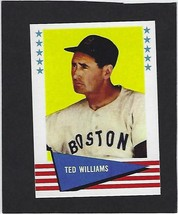 """1963 TED WILLIAMS #152 FLEER RP ICONIC CARD """"MR. RED SOX"""" - $2.84"""