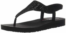 Skechers Cali Women's Meditation-Rock Crown Flat Sandal Black/Black 7 M US - $38.44 CAD
