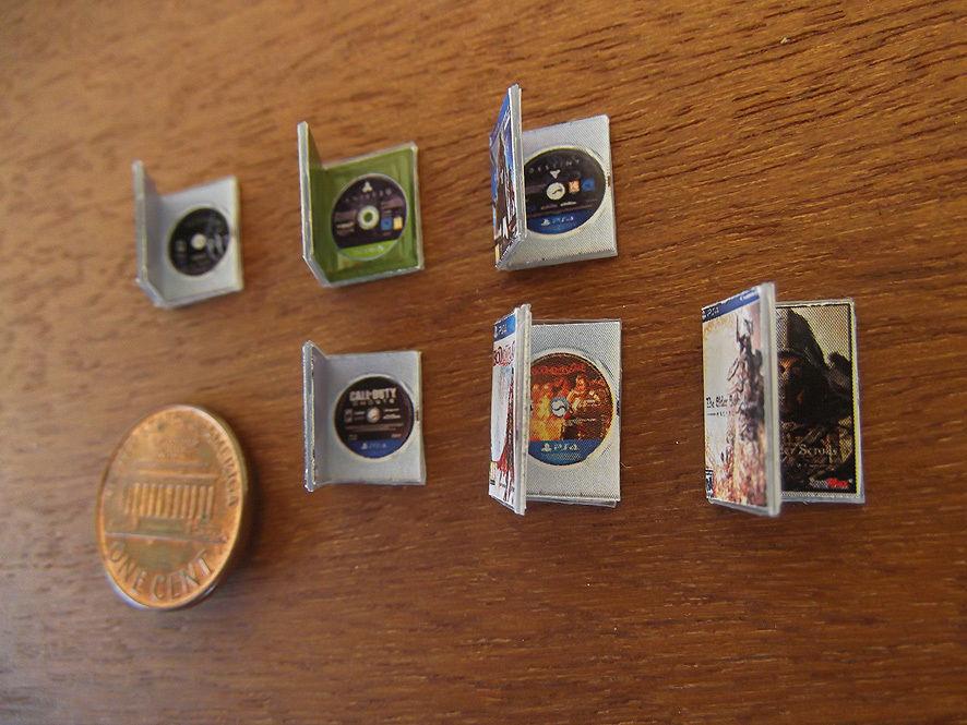 Set video game miniature.VI Series. Destiny, Skyrim,Call of Duty.. PS4, XBone,