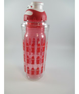 Coca-Cola 20 Oz Water Bottle Bottle Repeat Pattern with Clip BPA Free Se... - $15.84