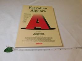 Forgotten Algèbre Barbara L. Bleu 1994 Livre de Poche Auto Teaching Fresher - $15.94