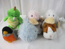 GANZ WEBKINZ LOT OF 6 PLUSH ANIMALS - 1 CODE - Dino, Googles, Whale, Gui... - $14.84