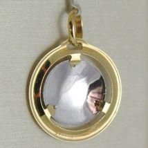 Anhänger Medaille Gelbgold Weiß 750 18K, Madonna und Christus, Maria und Jesus image 2