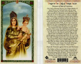 Prayer to Our Lady of Prompt Succor Laminated Card - Item EB805 - Virgin... - $2.79