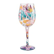 "Elegant Dragonfly Magic ""Designs by Lolita"" Wine Glass 15 o.z. 9""  Gift Boxed"