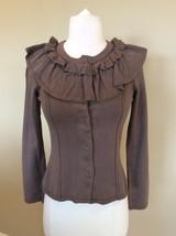 Moth Anthropologie Tan Sweater Brown Cardigan Womens XS Cotton - $25.99