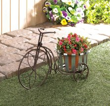 Galvanized Bucket Bike Planter - $34.95
