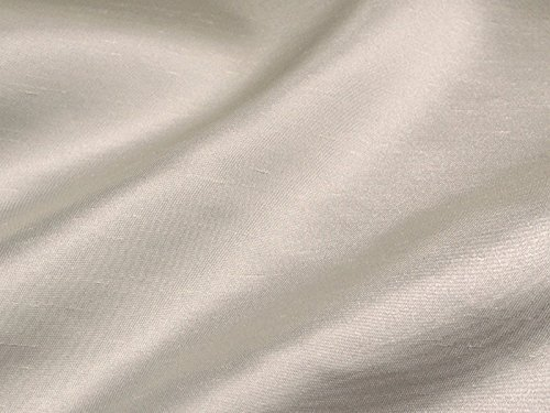 Shantung Satin Faux Silk Dupioni 60' Wide Fabric (Ivory)