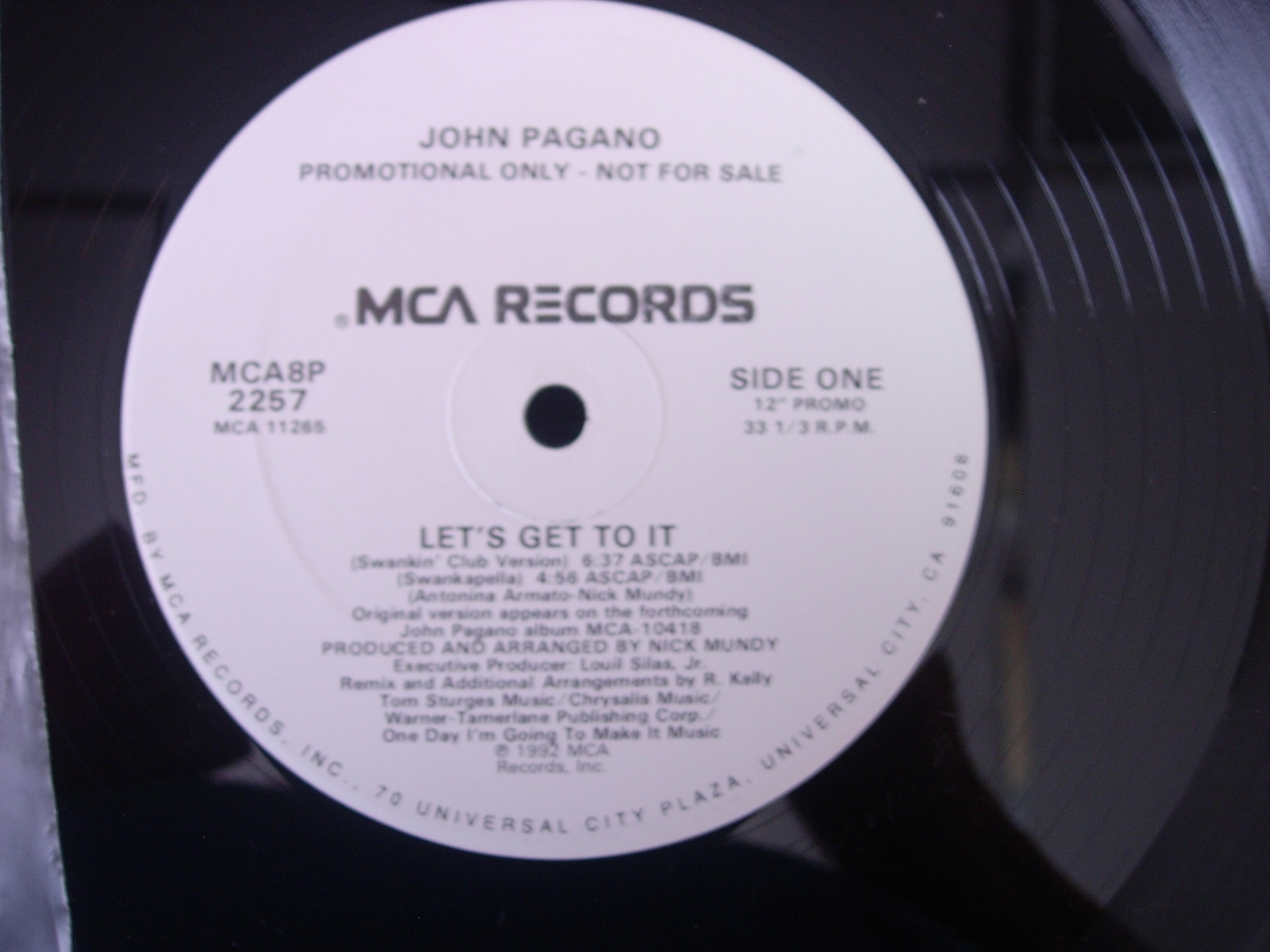 John Pagano - Let's Get To It - MCA Records MCAA8P 2257 - PROMO