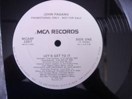 John Pagano - Let's Get To It - MCA Records MCAA8P 2257 - PROMO - $3.00