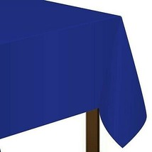 "Marine Blue Plastic Tablecover 54"" x 108"" - $6.71"