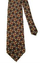 Jhane Barnes 100% Silk Tie - Rust & Navy - $18.00