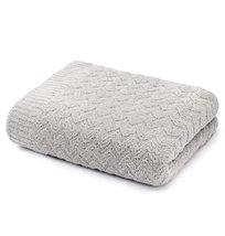 Kashwere Wave Weave Textured Stone Grey Throw Blanket - $165.00