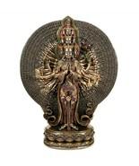 "Avalokitesvara Statue 12"" Many Arm Kwan Yin Buddhist Goddess Bronze Resi... - $119.95"