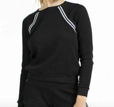 Hard Tail Long sleeve Sparkle Stripe Raglan Pullover CTH01 Black - $65.00
