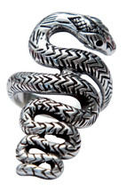 NWT Women's Custom Sexy Serpent Snake Fine Sterling Silver Ring Femme Me... - $160.00