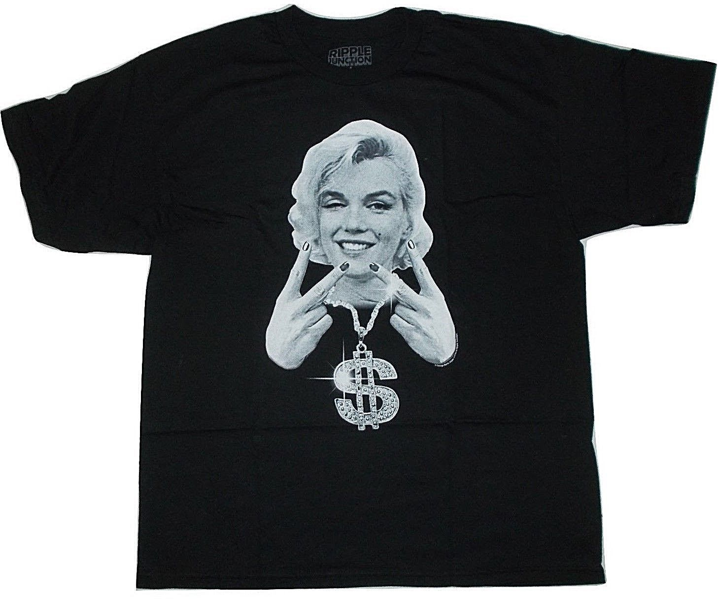 Marilyn Monroe Bling Money Dollar Mens Hollywood Adult T Shirt XL
