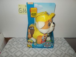 Paw Patrol Real Talk  Rubble Plush - $24.99