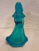 Fenton Art Glass Turquoise Bridesmaid Doll Figurine Blank Undecorated - $84.14
