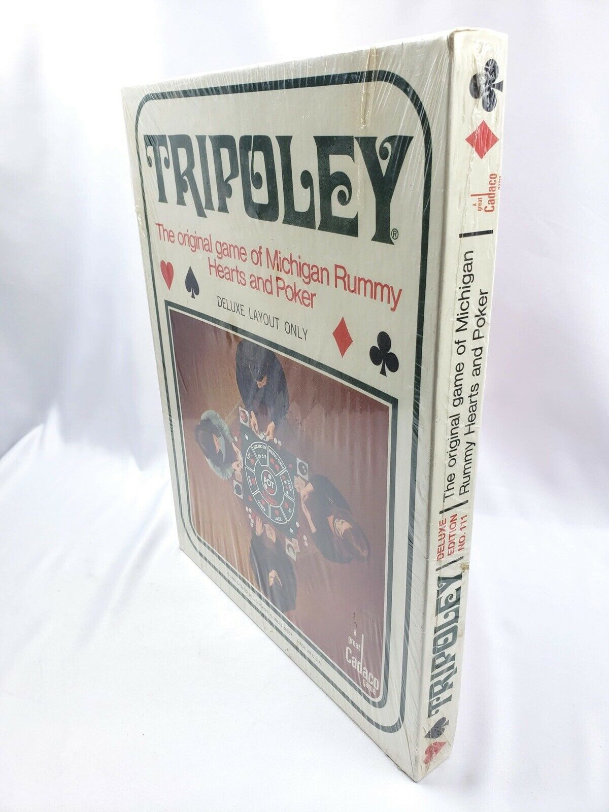 Vintage Cadaco 1969 Tripoley Deluxe Layout Only Michigan Rummy Hearts & Poker