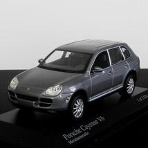 Stunning Gray Metallic Porsche Cayenne V6 Model 2003 Scale 1:43 Minichamps - $59.00