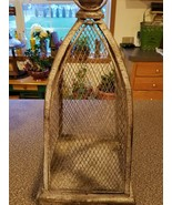"Rustic ~ Metal ~ Hanging Cage Decor ~ 18"" Tall x 8.25"" Square - $74.25"
