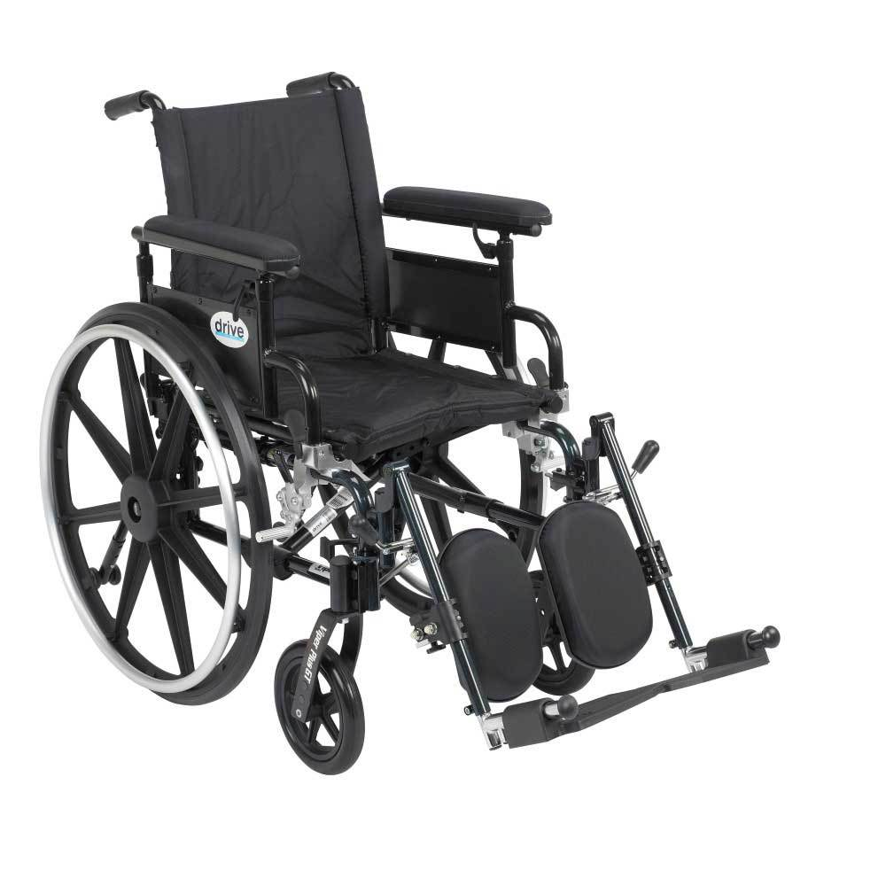 Drive Medical Viper Plus GT With Full Arms and Leg Rests 22''
