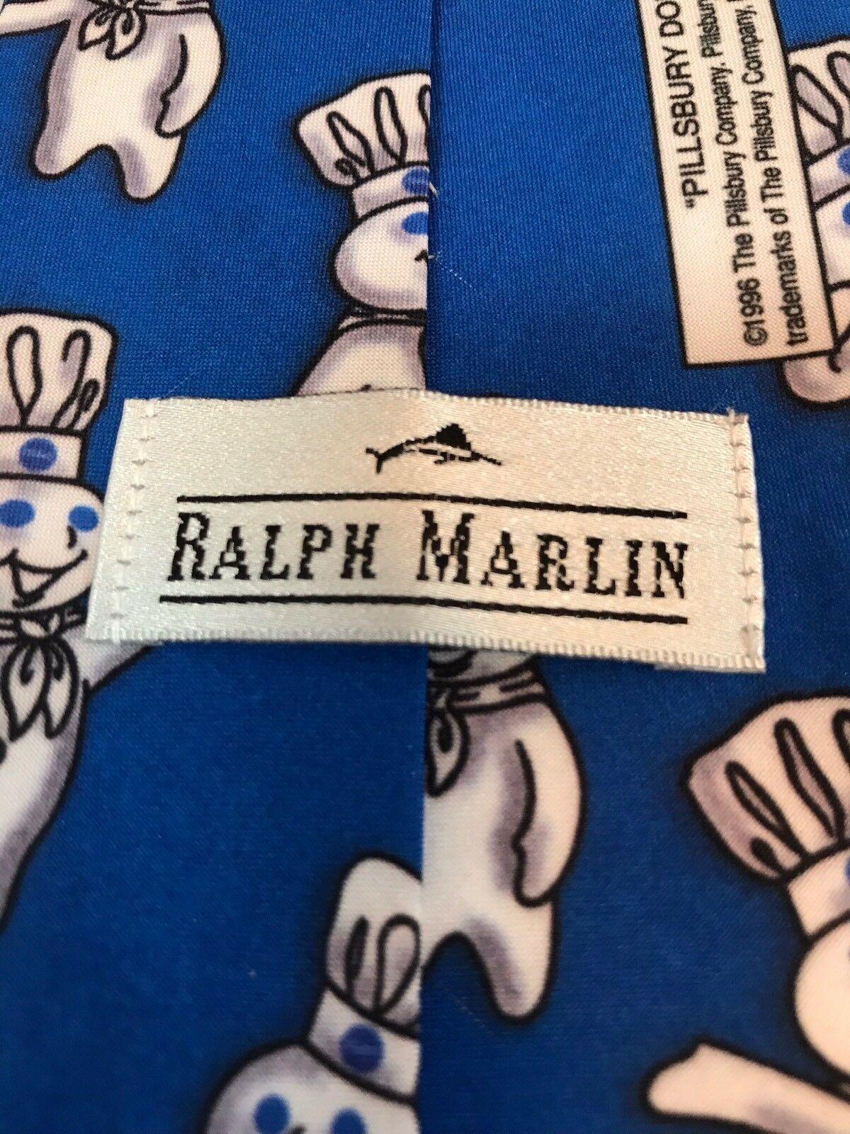 Pillsbury Dough Boy Repeat Ralph Marlin Blue Classic Men's Neck Tie 1996 image 3