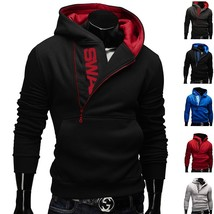 New Sales 2018 Autumn&Winter Hoodies Sweatshirts Men(Letter Printed Side Zipper) - $37.54