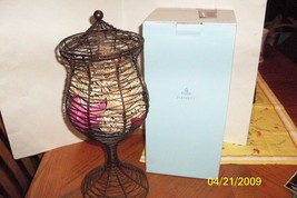 PARTYLITE APOTHECARY  PILLAR HOLDER  ~ RETIRED #P90364S W/ BOX-EXCELLENT - $12.50