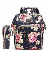 Diaper Bag Backpack Floral Baby Bag Water-Resistant Baby Nappy Bag with ... - $32.76