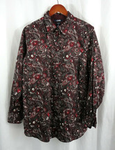 NWT CHAPS Ralph Lauren No-iron Top Shirt Blouse Houndstooth Slimming Plus
